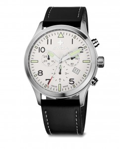 watch SIRIUZ Chrono, SST, white, black WAT.0353.1003