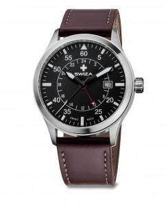 Zegarek SWIZA Siriuz GMT SST black-brown WAT.0352.1002