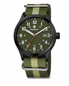 watch SWIZA Kretos Gent SST black-olive-green WAT.0251.1102