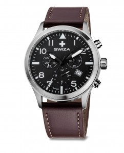 zegarek SIRIUZ Chrono, SST, black, brown WAT.0353.1002