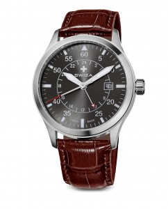 Zegarek SIRIUZ GMT, SST, anthrac., brown WAT.0352.1003