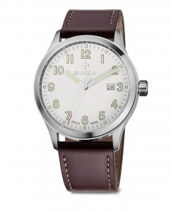 watch KRETOS Gent, SST, white, brown WAT.0251.1001